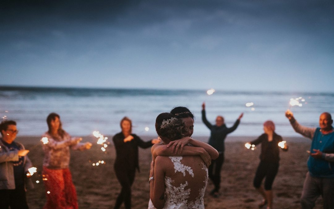 'Stunningly Simple' – Intimate Weddings at Lusty Glaze Beach